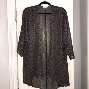 LulaRoe Lindsay Kimono Sheer Size L